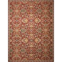 "Nourison Timeless 5'6"" x 8' Red Rectangle Rug - Item Number: TML17 RED 56X8"