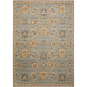 "Nourison Timeless 2'3"" x 3' Light Blue Rectangle Rug"