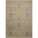 "Nourison Timeless 5'6"" x 8' Light Blue Rectangle Rug - Item Number: TML19 LTB 56X8"