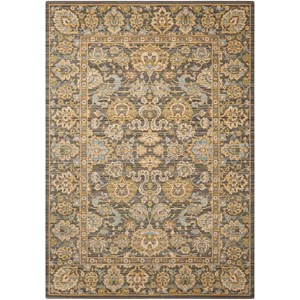 "Nourison Timeless 8'6"" x 11'6"" Opal/Grey Rectangle Rug"