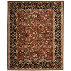 "Nourison Timeless 8'6"" x 11'6"" Persimmon Rectangle Rug"