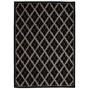 "Nourison Tranquility 9'3"" x 12'9"" Black Rectangle Rug"