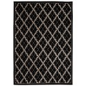 "Nourison Tranquility 9'3"" x 12'9"" Black Rectangle Rug - Item Number: TNQ01 BLK 93X129"