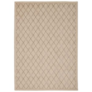 "Nourison Tranquility 5'3"" x 7'5"" Ivory Rectangle Rug"