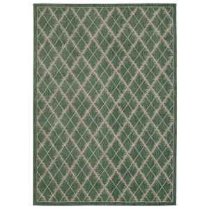 "Nourison Tranquility 7'9"" x 10'10"" Light Green Rectangle Rug"