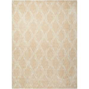 "Nourison Tranquility 9'3"" x 12'9"" Beige Rectangle Rug"