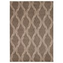 """Nourison Tranquility 5'3"""" x 7'5"""" Taupe Rectangle Rug - Item Number: TNQ02 TAU 53X75"""