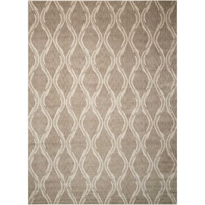 "Nourison Tranquility 7'9"" x 10'10"" Taupe Rectangle Rug"