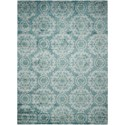 "Nourison Tranquility 7'9"" x 10'10"" Aqua Rectangle Rug - Item Number: TNQ03 AQU 79X1010"