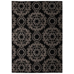 "Nourison Tranquility 5'3"" x 7'5"" Black Rectangle Rug"