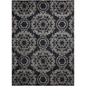 "Nourison Tranquility 9'3"" x 12'9"" Black Rectangle Rug - Item Number: TNQ03 BLK 93X129"