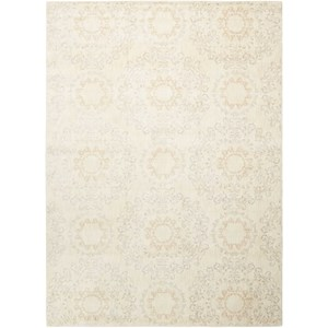"Nourison Tranquility 9'3"" x 12'9"" Ivory Rectangle Rug"