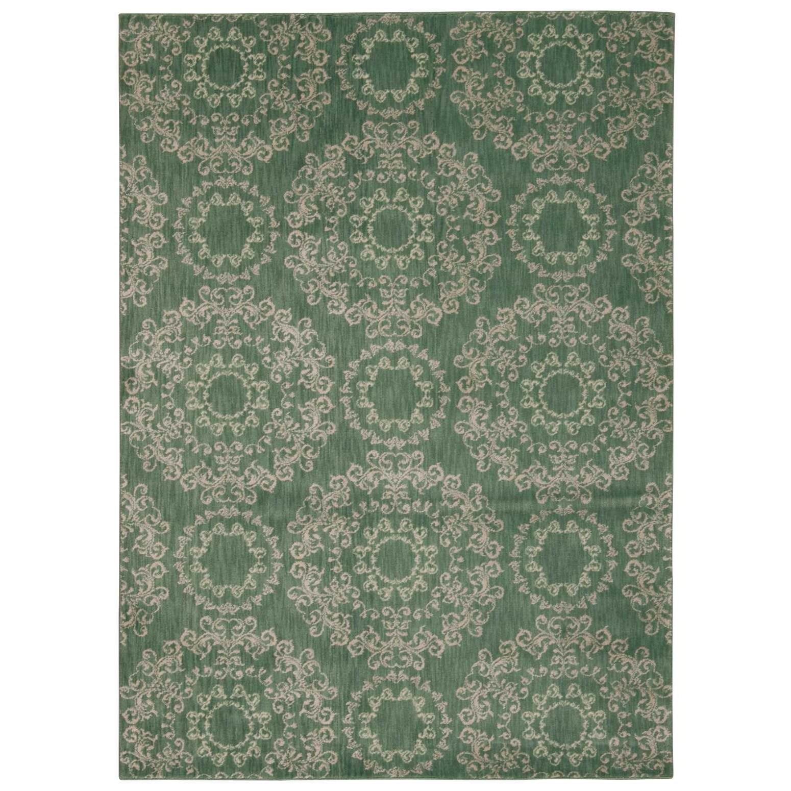 "Nourison Tranquility 3'9"" x 5'9"" Light Green Rectangle Rug - Item Number: TNQ03 LTG 39X59"