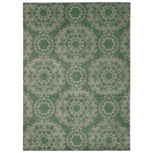 "Nourison Tranquility 5'3"" x 7'5"" Light Green Rectangle Rug"