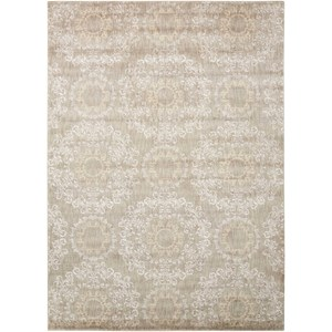 "Nourison Tranquility 3'9"" x 5'9"" Stone Rectangle Rug"