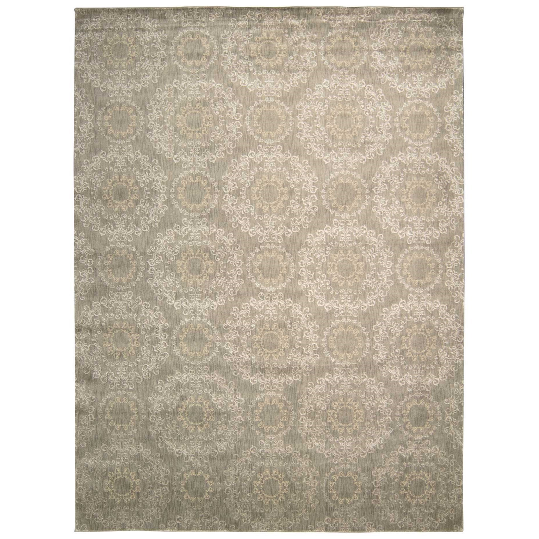 "Nourison Tranquility 7'9"" x 10'10"" Stone Rectangle Rug - Item Number: TNQ03 STONE 79X1010"