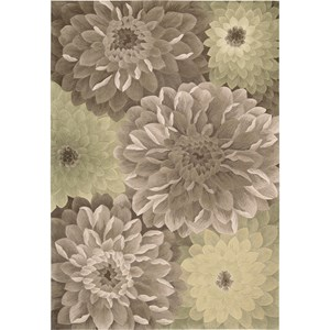 "Nourison Tropics 5'3"" x 8'3"" Taupe Green Area Rug"