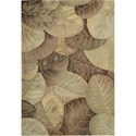 "Nourison Tropics 5'3"" x 8'3"" Brown Green Area Rug - Item Number: 01759"