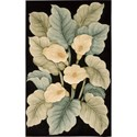 Nourison Tropics 8' x 11' Black Area Rug - Item Number: 54643