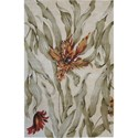 "Nourison Tropics 3'6"" x 5'6"" Ivory Area Rug - Item Number: 81772"