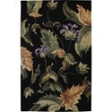"Nourison Tropics 7'6"" x 9'6"" Black Area Rug - Item Number: 81898"