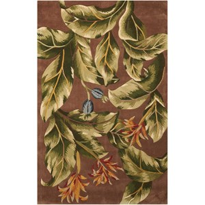 "Nourison Tropics 5'3"" x 8'3"" Khaki Rectangle Rug"
