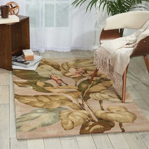 "Nourison Tropics 3'6"" x 5'6"" Beige Rectangle Rug"