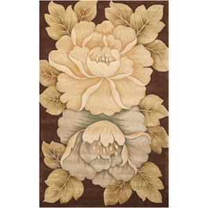 "Nourison Tropics 5'3"" x 8'3"" Brown Rectangle Rug"