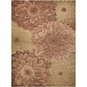 Nourison Tropics 8' x 11' Taupe/Green Rectangle Rug - Item Number: TS11 TAUGR 8X11