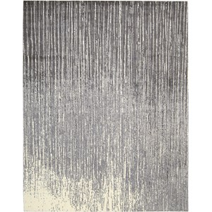 "Nourison Twilight 7'9"" x 9'9"" Smoke Area Rug"
