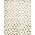 "Nourison Twilight 9'9"" x 13'9"" Ivory Grey Area Rug - Item Number: 29357"