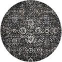 Nourison Twilight1 8' X 8' Onyx Rug - Item Number: TWI13 ONYX 8X8