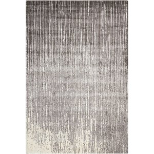 "Nourison Twilight1 7'9"" X 9'9"" Smoke Rug"