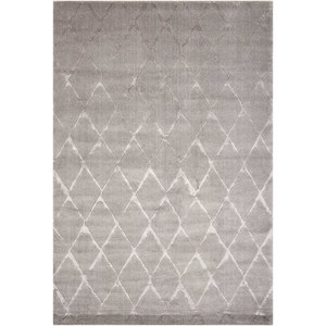 "Nourison Twilight1 5'6"" X 8' Grey Rug"