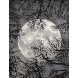 """Nourison Twilight1 7'9"""" X 9'9"""" Moon Rug"""