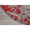 Nourison Twilight1 8' X 8' Gry/Red Round Rug