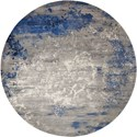 Nourison Twilight1 8' X 8' Blue/Grey Rug - Item Number: TWI22 BLGRY 8X8