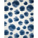 Nourison Twilight1 12' X 15' Ivory Blue Rug - Item Number: TWI23 IVBLU 12X15