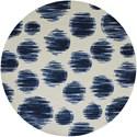 Nourison Twilight1 8' X 8' Ivory Blue Rug - Item Number: TWI23 IVBLU 8X8
