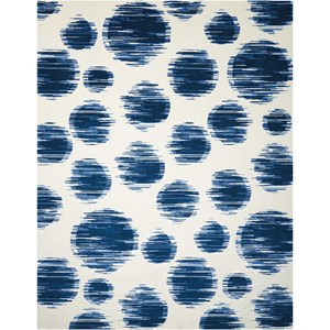 "Nourison Twilight1 9'9"" X 13'9"" Ivory Blue Rug"