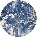 Nourison Twilight1 8' X 8' Blue/Ivory Rug - Item Number: TWI24 BLUIV 8X8