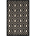 "Nourison Ultima 2'6"" x 4' Ivory/Black Rectangle Rug - Item Number: UL316 IVBLK 26X4"