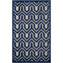 "Nourison Ultima 2'6"" x 4' Ivory Blue Rectangle Rug - Item Number: UL316 IVBLU 26X4"