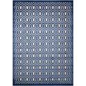 "Nourison Ultima 7'9"" x 10'10"" Ivory Blue Rectangle Rug - Item Number: UL316 IVBLU 79X1010"