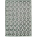 "Nourison Ultima 7'9"" x 10'10"" Silver/Green Rectangle Rug - Item Number: UL316 SILGN 79X1010"