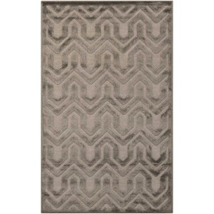"Nourison Ultima 2'6"" x 4' Silver Grey Rectangle Rug"