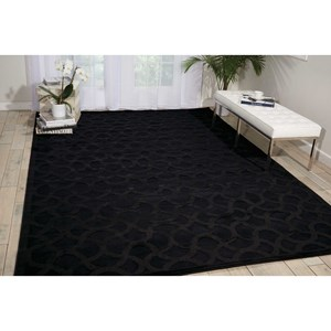 "Nourison Ultima 5'3"" x 7'3"" Black Rectangle Rug"