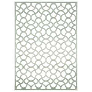 "Nourison Ultima 5'3"" x 7'3"" Ivory/Aqua Rectangle Rug"