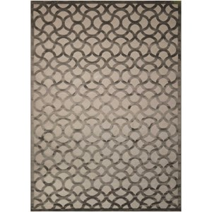 "Nourison Ultima 3'6"" x 5'6"" Silver Grey Rectangle Rug"
