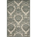 "Nourison Ultima 2'6"" x 4' Ivory Green Rectangle Rug - Item Number: UL513 IVGRN 26X4"